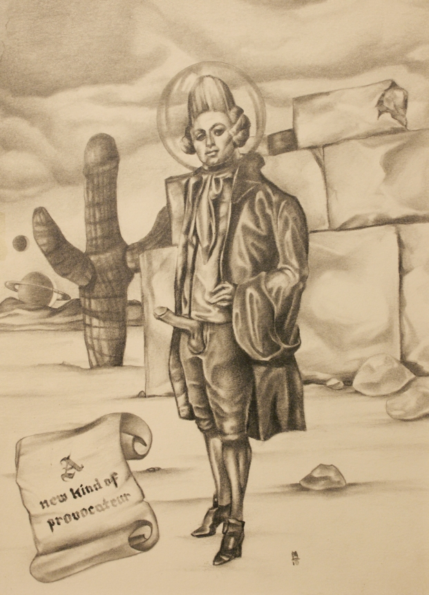 A New Provocateur in Pencil on Illustration Board